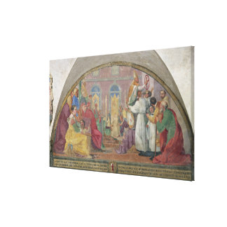 Pope Eugene IV Consecrating the convent of San Mar Canvas Print