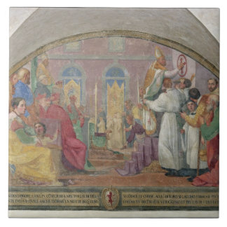 Pope Eugene IV Consecrating the convent of San Mar Ceramic Tile