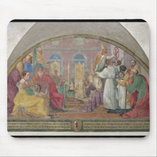 Pope Eugene IV Consecrating the convent of San Mar Mouse Pad