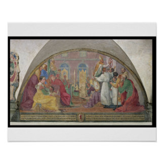 Pope Eugene IV Consecrating the convent of San Mar Poster