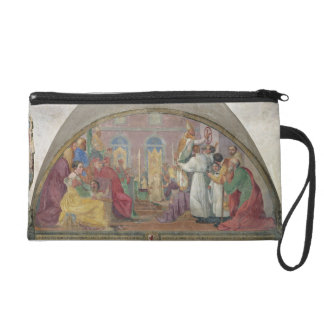 Pope Eugene IV Consecrating the convent of San Mar Wristlet Purse