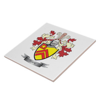Pope Family Crest Coat of Arms Ceramic Tile