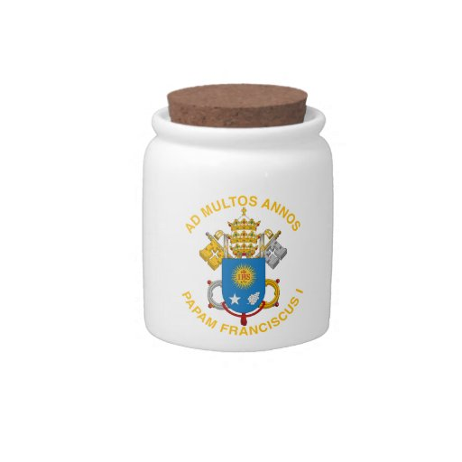 Pope Francis Candy Jar