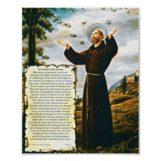 Pope Francis Canticle of the Creatures St Francis Poster