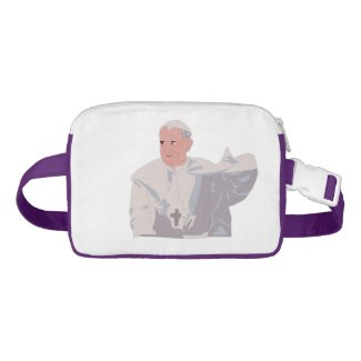 Pope Francis graphic Nylon Fanny Pack