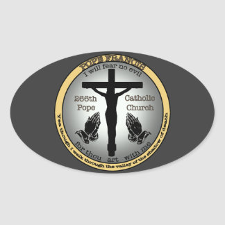 Pope Francis Oval Sticker