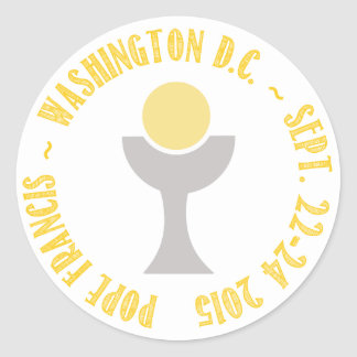 Pope Francis Papal Visit Washington D.C. 2015 Classic Round Sticker