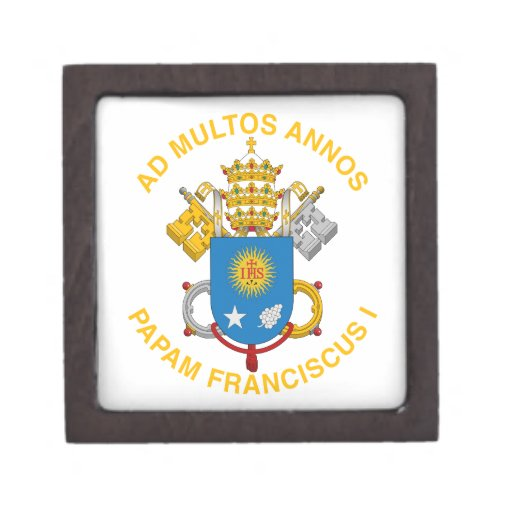 Pope Francis Premium Keepsake Boxes