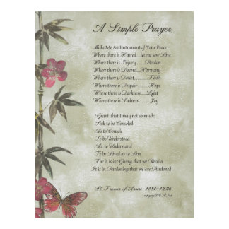 POPE FRANCIS=ST. FRANCIS SIMPLE PRAYER=Bamboo2 Poster
