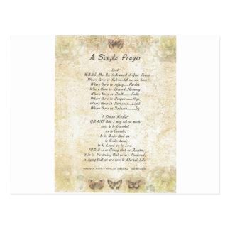 pope francis=st. francis simple prayer =butterflie postcard