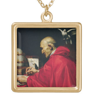 Pope Gregory the Great Square Pendant Necklace