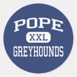Pope - Greyhounds - High School - Marietta Georgia Classic Round Sticker