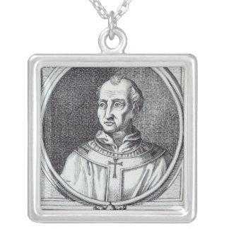 Pope Hadrian II Square Pendant Necklace