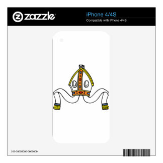 pope hat decal for iPhone 4