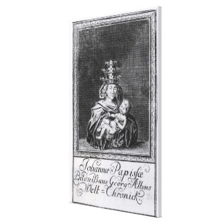 Pope Joan with her child Canvas Print