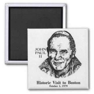 Pope John Paul II 2 Inch Square Magnet