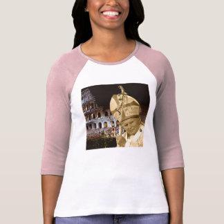 Pope John Paul II Blessing Raglan T-Shirt