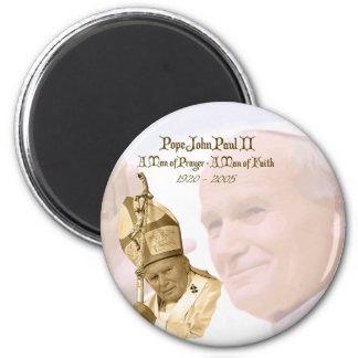 Pope John Paul II Collage Magnet
