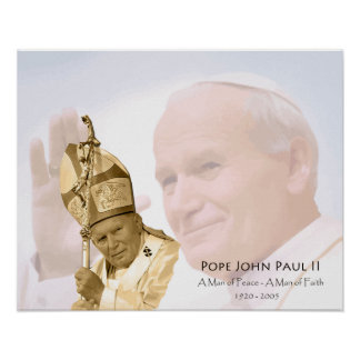 Pope John Paul II Collage Poster