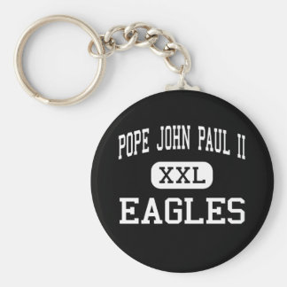 Pope John Paul II - Eagles - High - Boca Raton Basic Round Button Keychain