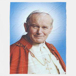 POPE JOHN PAUL II Fleece Blanket
