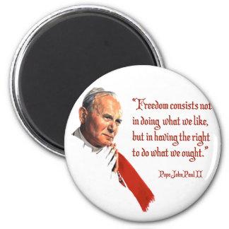 Pope John Paul II Freedom Magnet
