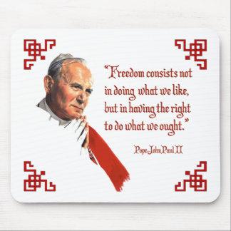 Pope John Paul II Freedom Mousepad