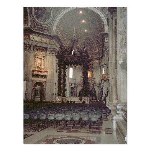 Pope John Paul II in the gallery in St Peter's Postcards