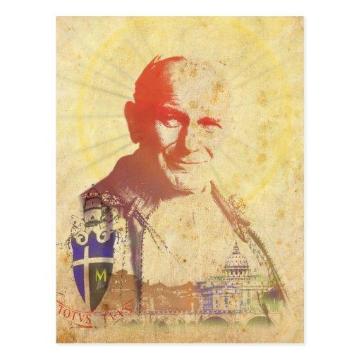 Pope John Paul II Papal Crest Postcard