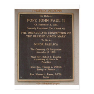 POPE JOHN PAUL II PHOENIX ARIZONA VISIT POSTCARD