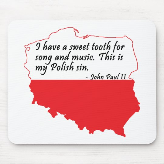 Pope John Paul II Quote Mouse Pad