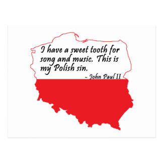 Pope John Paul II Quote Postcard
