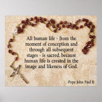 Pope John Paul Pro-Life Posters