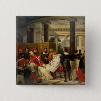 Pope Julius II ordering Bramante Button