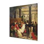 Pope Julius II ordering Bramante Canvas Print