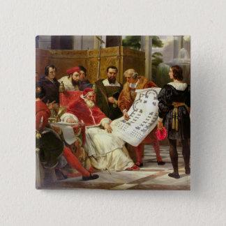 Pope Julius II ordering Bramante Pinback Button