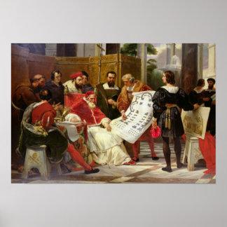Pope Julius II ordering Bramante Poster