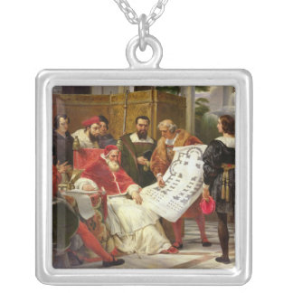 Pope Julius II ordering Bramante Silver Plated Necklace