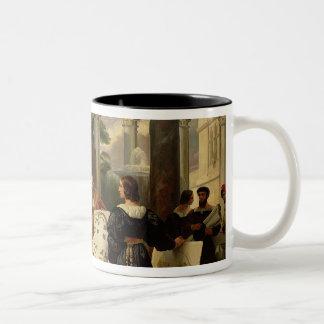 Pope Julius II ordering Bramante Two-Tone Coffee Mug