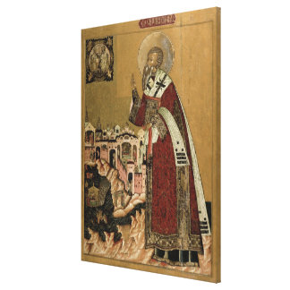 Pope Klemens with scenes from his life Canvas Print