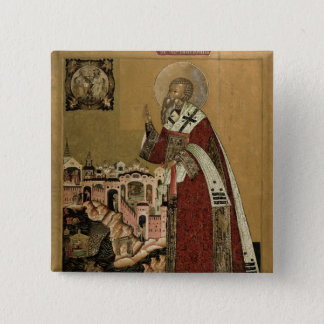 Pope Klemens with scenes from his life Pinback Button