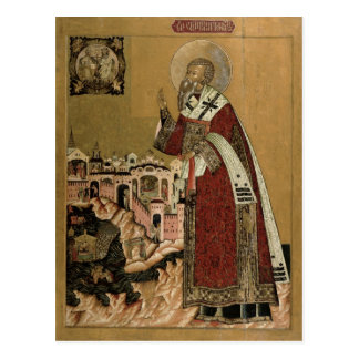 Pope Klemens with scenes from his life Postcard