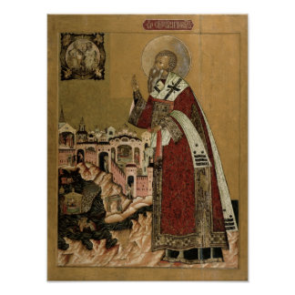 Pope Klemens with scenes from his life Poster