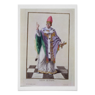 Pope Leo III (795-816) from 'Receuil des Estampes, Poster