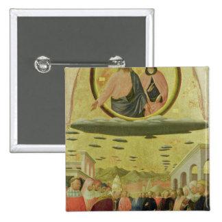 Pope Liberius  Founding the Basilica 2 Inch Square Button