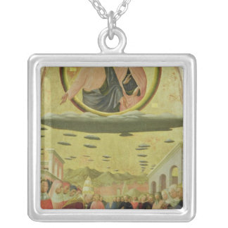 Pope Liberius  Founding the Basilica Silver Plated Necklace