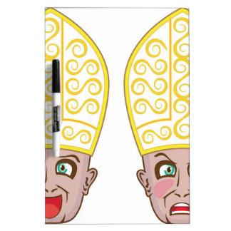 Pope Manga Cartoon Face Dry-Erase Board