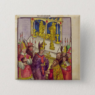 Pope Martin V gives Sigismund symbolic gift Button