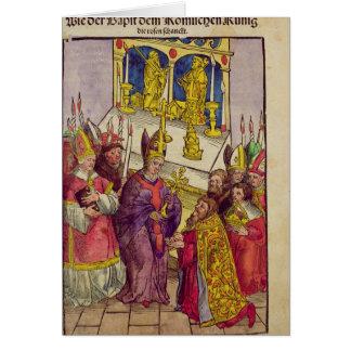 Pope Martin V gives Sigismund symbolic gift Card
