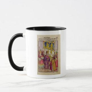 Pope Martin V gives Sigismund symbolic gift Mug